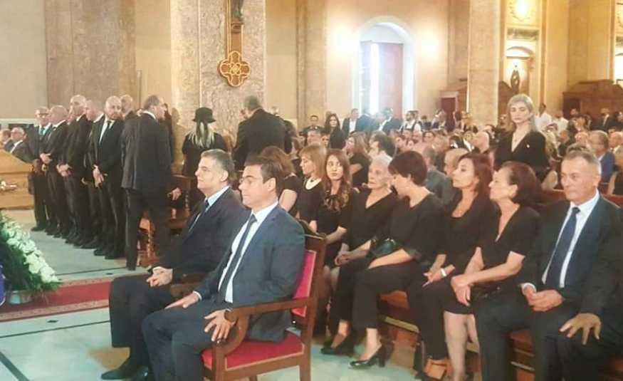 بالصور: حضور فني وسياسي حاشد في وداع سيمون اسمر