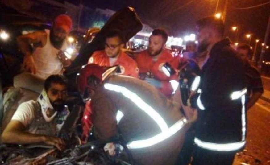 حادث سير مروع على طريق ضهر البيدر