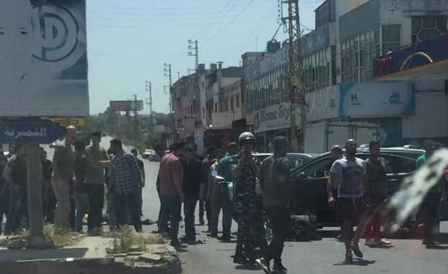 بالصور.. قتيل في حادث سير غرب النبطية