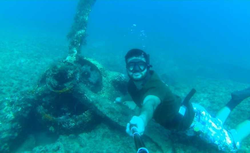 غطاسون يعثرون على حطام طائرة حربية بريطانية قبالة الناقورة