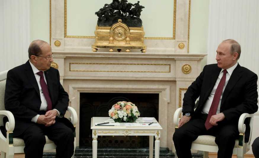 عون التقى بوتين في الكرملين