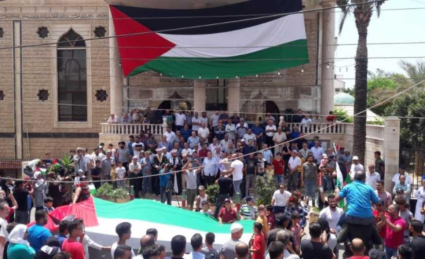 إعتصام للفصائل الفلسطينية في سبلين