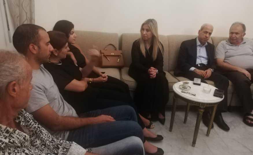 الطبش زارت عائلة الخضري معزية: كأن قدر لبنان أن يخسر خيرة أبنائه اينما وجدوا