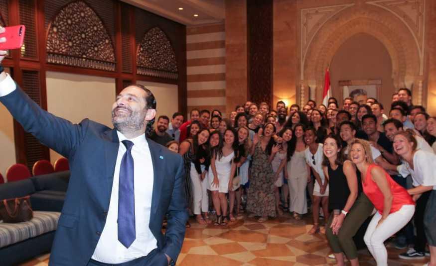 الحريري يلتقي عائلة فشيخ ووفداً طلابياً