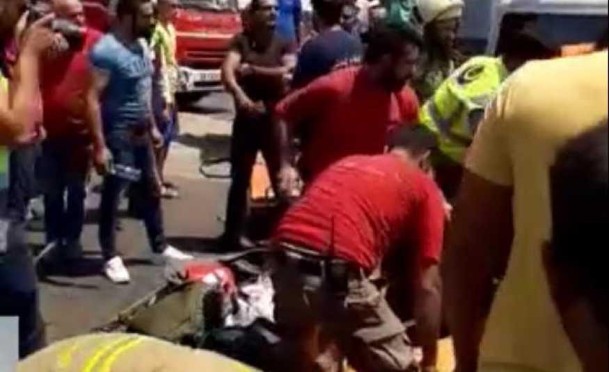بالفيديو والصور.. حادث سير مروّع على طريق المطار