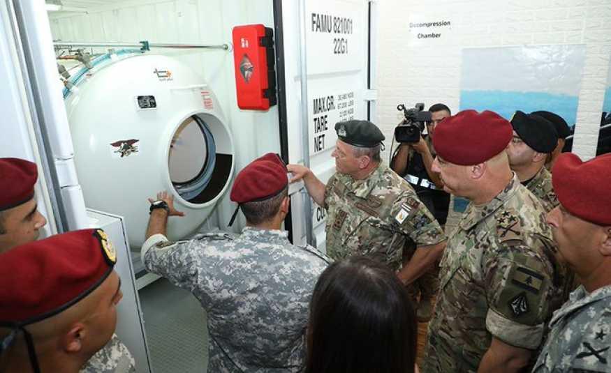 قائد الجيش يفتتح مركز معالجة حوادث الغطس