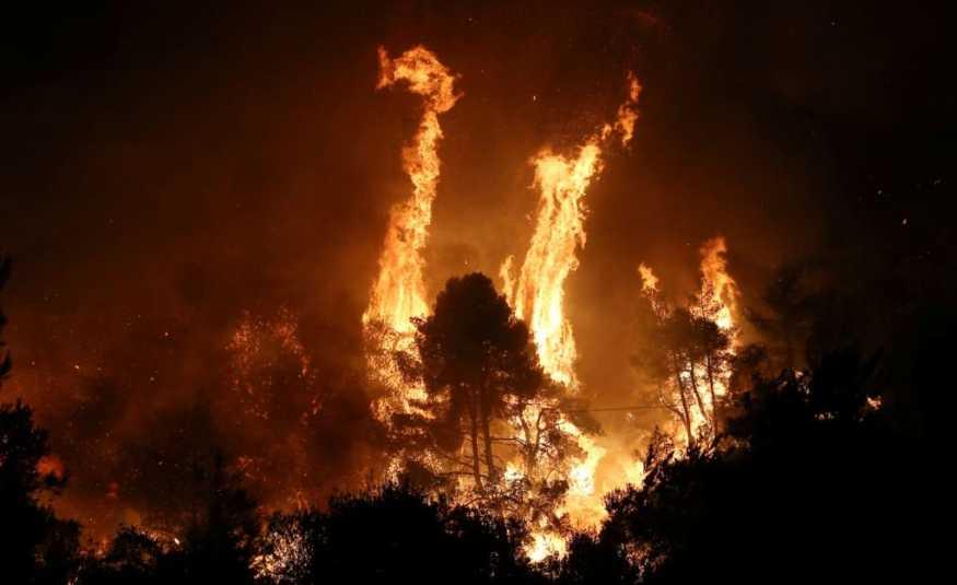 اليونان.. حريق كبير في جزيرة إيفيا