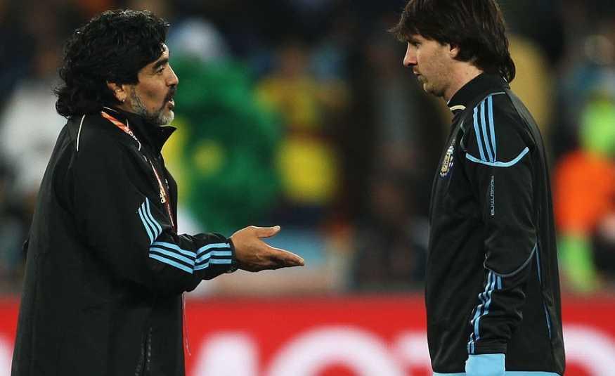 مارادونا يكشف عن سر إتقان ميسي للركلات الحرة