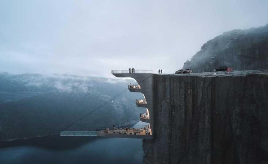جميل أم مرعب؟ فندق على حافة الهاوية
